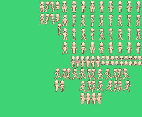 아방스 - xp 캐릭터 뼈대 (템플릿)